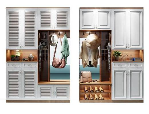 装饰柜, 玄关柜, 鞋柜, 玄关鞋柜, 帽子, 衣服, 鞋, 包, 边柜
