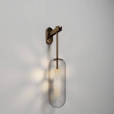 现代, 简约, 壁灯, 现代壁灯, 金属壁灯