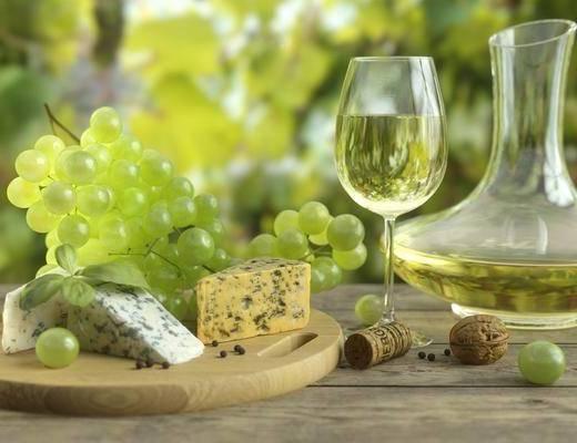 酒瓶, 酒杯, 食物, 现代