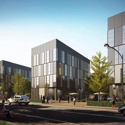 现代建筑3d模型, 现代建筑, 建筑, 办公建筑, 现代