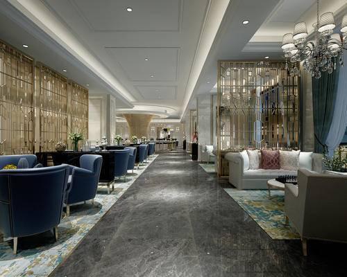 餐厅, 沙发组合, 沙发茶几组合, 桌椅, 中式, 酒店