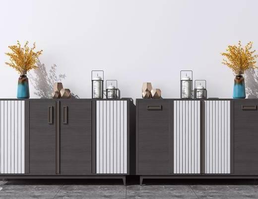 端景柜, 装饰矮柜, 柜架组合