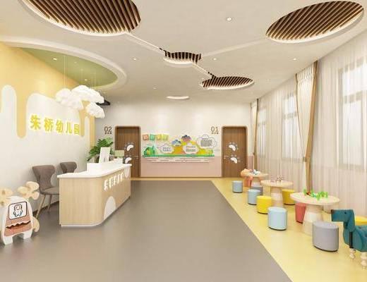 幼儿园, 工装, 大厅