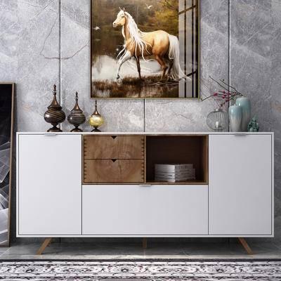 餐边柜, 饰品, 柜架组合, 玄关柜, 摆件组合, 装饰画