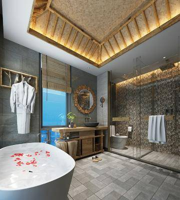 卫生间, 浴缸组合, ?#35789;?#21488;组合, 马桶组合, 花洒组合, 新中式