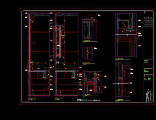 CAD施工图, 大师, 别墅, 平面, 立面