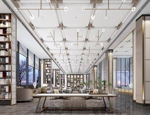 新中式售楼处, 大厅洽谈区