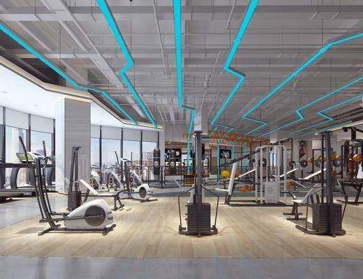 跑步机, 健身室, 运动器械