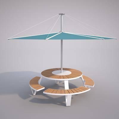 现代户外遮阳伞