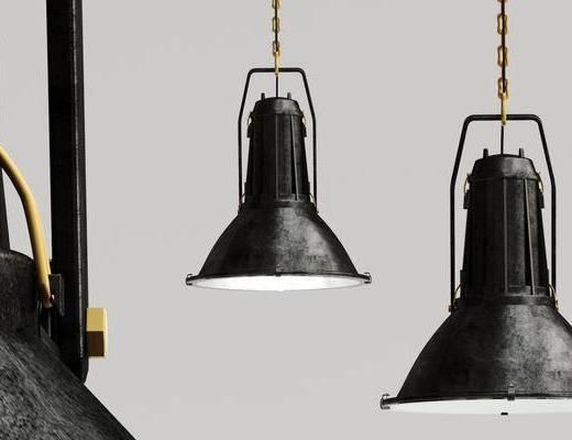 工业风黑色吊灯