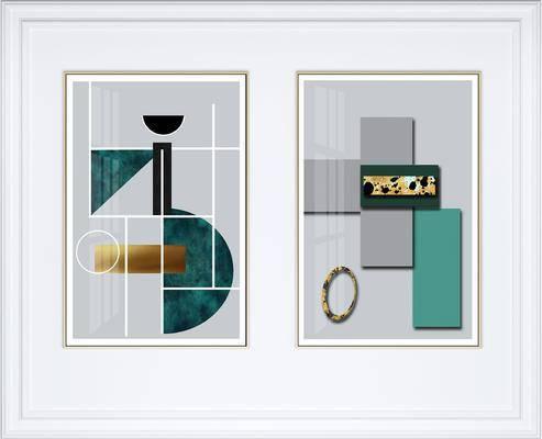 装饰画, 挂画, 抽象画, 艺术画, 组合画, 现代