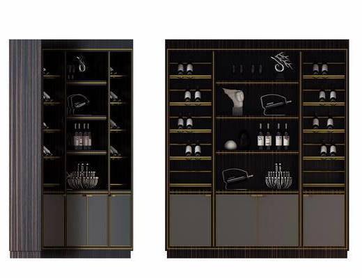 酒柜, 装饰柜, 现代, 装饰品, 陈设品