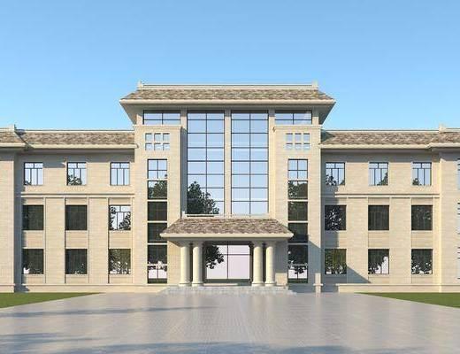 现代办公楼, 现代公寓, 写字楼