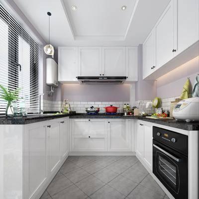 现代厨房, 厨房, 简约厨房, 厨房橱柜