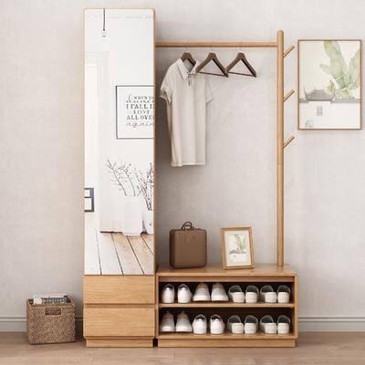 鞋柜, 衣架, 装饰画