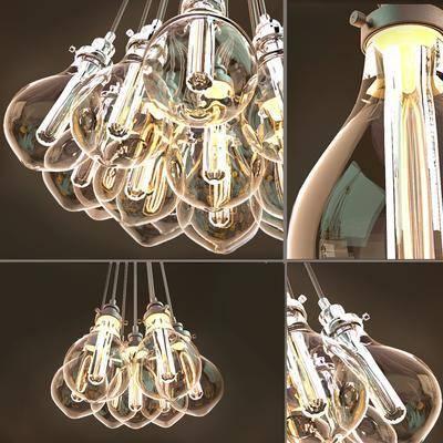 吊灯, 灯泡, 现代
