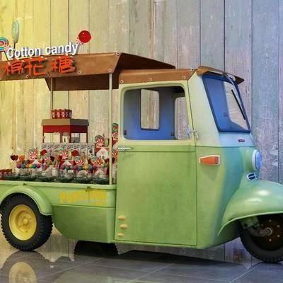 三轮车, 售货车, 食物, 设备, 现代, 车