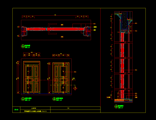 CAD, 施工图, 户型, 家装, 立面图, 平面图