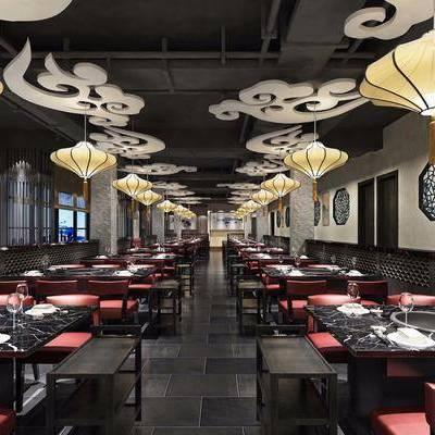 火锅店, 餐厅, 现代, 新中式, 工业风