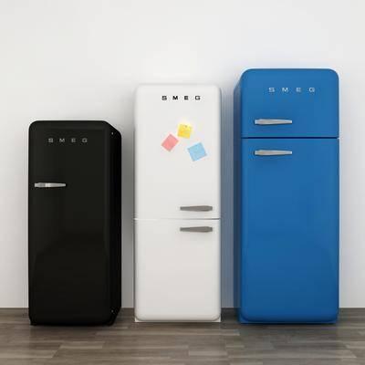冰箱组合, 冰箱冰柜, 北欧