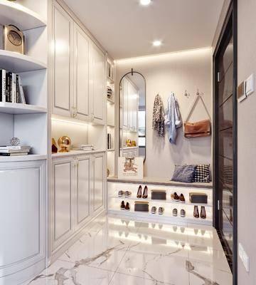 玄关, 走廊过道, 鞋柜, 柜架组合