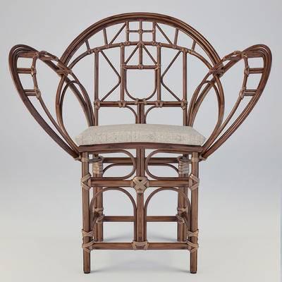 编藤椅, 竹椅, 休闲椅, 中式椅, 扶手椅, 单人椅, 户外椅子