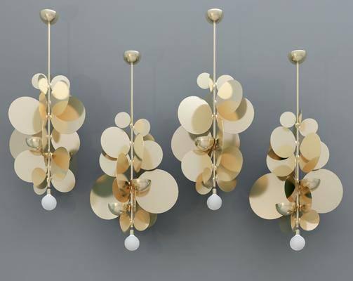 吊灯, 现代金属吊灯, 轻奢吊灯, 现代吊灯, 现代