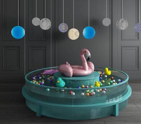 游泳池, 现代游泳池, 气球