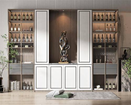 新中式风格酒柜