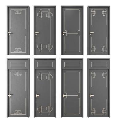 新中式单开门, 单开门, 平开门