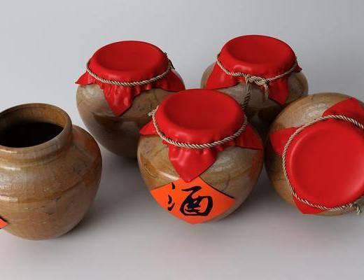 陶瓷, 器皿, 酒水