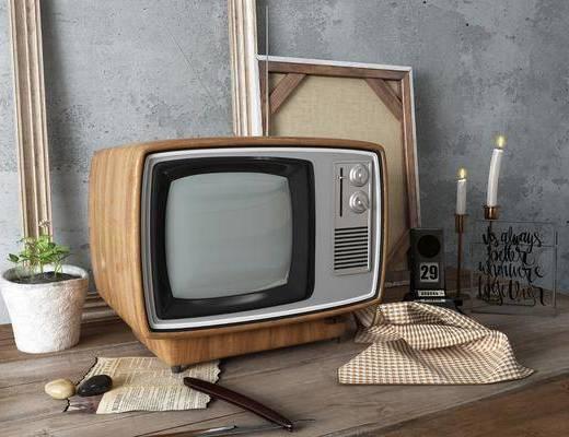 电视机, 电视, 电器