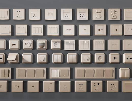 开关插座组合, 开关面板, 现代