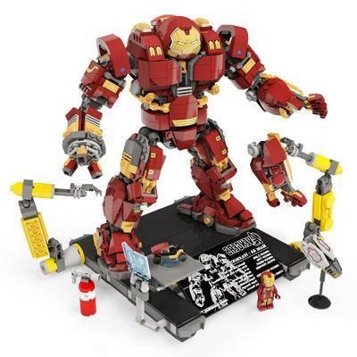 钢铁侠, 反浩克装甲, 乐高, 积木, 现代, 玩具