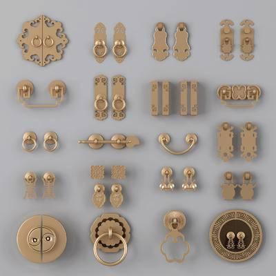 门把, 把手, 金属, 拉手, 新中式, 中式门把