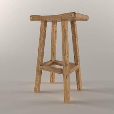 美式, 工业风格, 单人椅, 吧椅