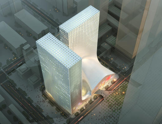 建筑, 大厦, 公建, 外观