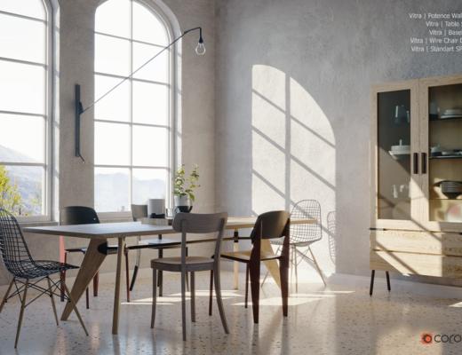 北歐餐廳, 現代, 餐廳, 餐桌椅, 桌椅組合