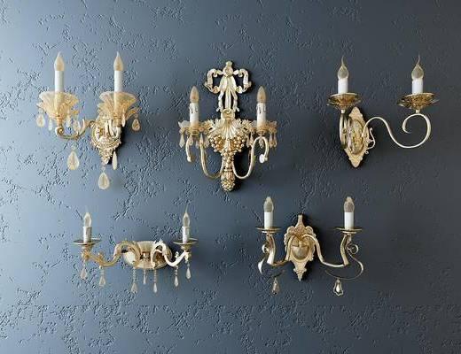 壁灯, 欧式, 欧式壁灯, 灯具, 灯