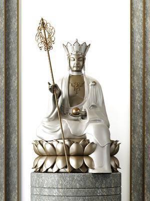 菩萨佛像, 雕塑摆件, 新中式