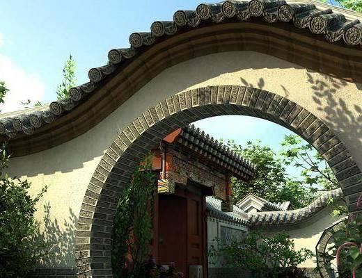 拱門, 中式