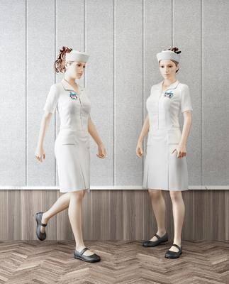 现代美女护士人物模特, 现代, 护士, 人物, 模特
