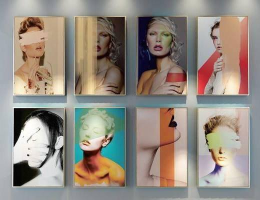装饰画, 挂画, 组合画, 现代