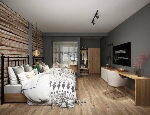 名宿客房, 酒店客房, 床具組合, 桌椅組合, 洗手間, 洗手臺組合, 衣柜組合, 北歐