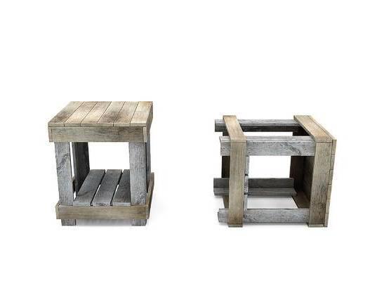 木箱子, 木凳子
