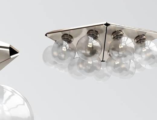 现代玻璃吸顶灯