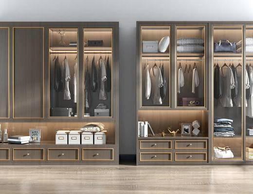 衣柜, 装饰柜, 服饰, 现代