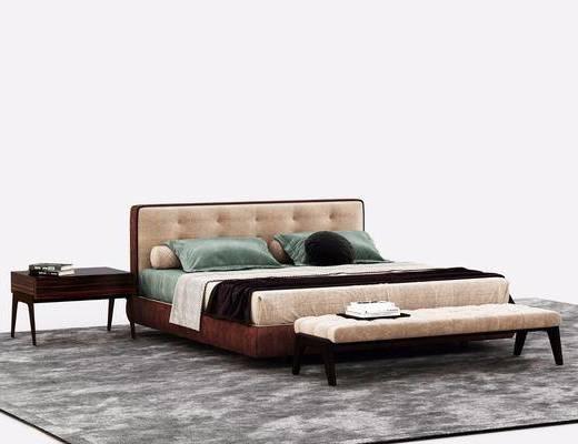 双人床, 后现代, 床具组合
