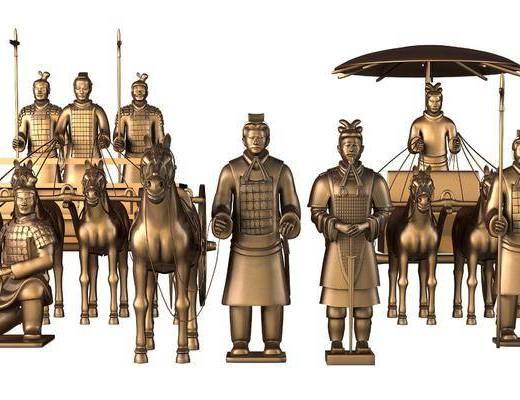 中式, 秦兵马俑, 雕塑