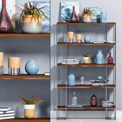 花瓶, 摆件组合, 置物架